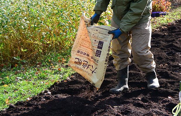 大地肥の混和準備