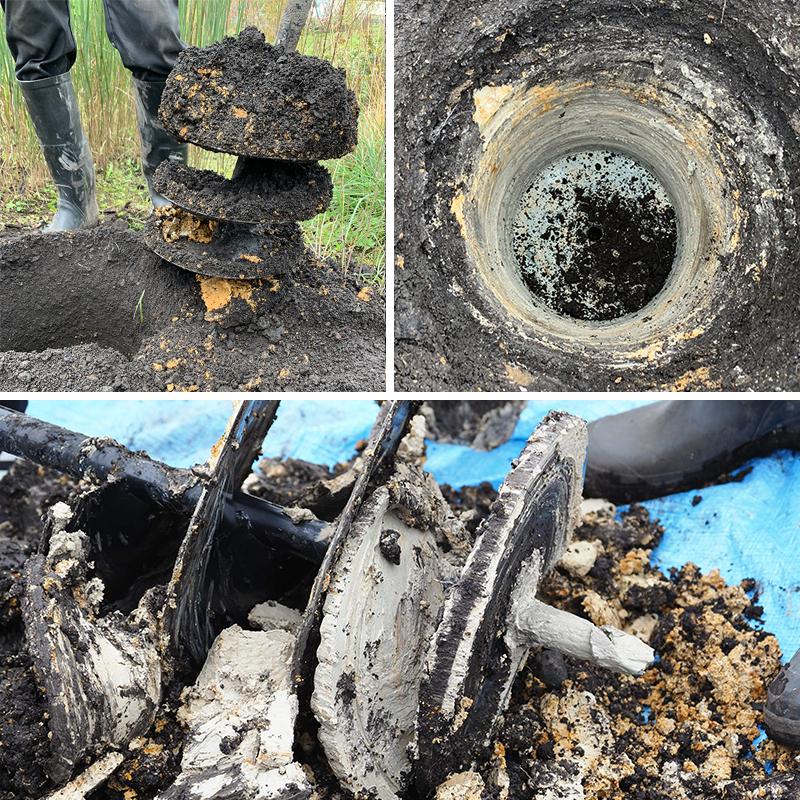 土壌改良のための排水環境調査の様子