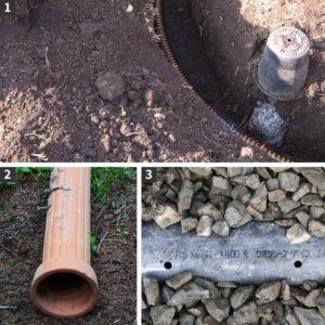 土壌改良成功のために知っておきたい基礎知識その2「排水できない理由」。暗渠(あんきょ)が正常に機能していない一例